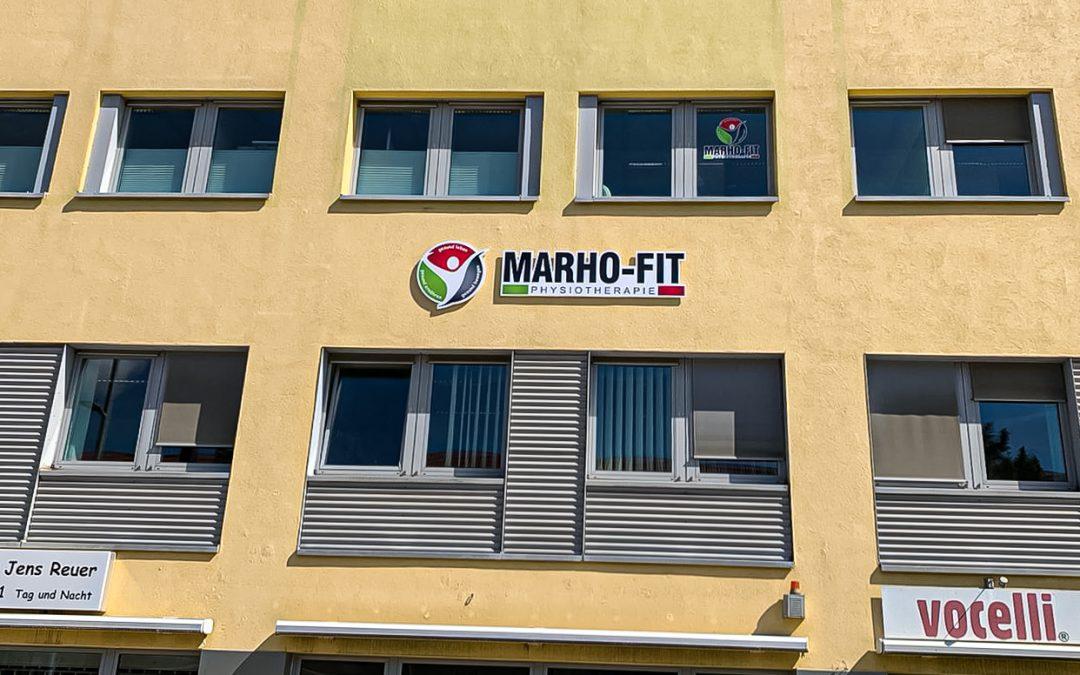 Werbeanlage MARHO-FIT