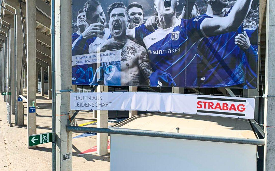 Stadionbanner 1. FC Magdeburg